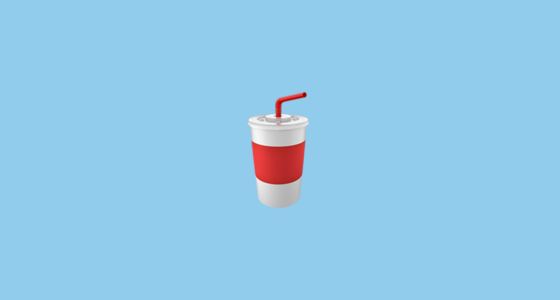 Cup With Straw Emoji On Apple Ios 111