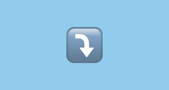 Arrow Pointing Rightwards Then Curving Downwards Emoji