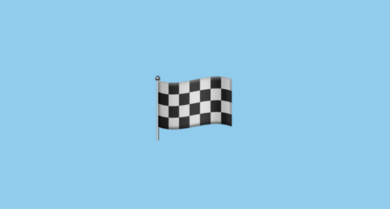 chequered flag emoji