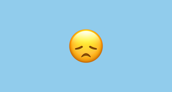 disappointed face emoji
