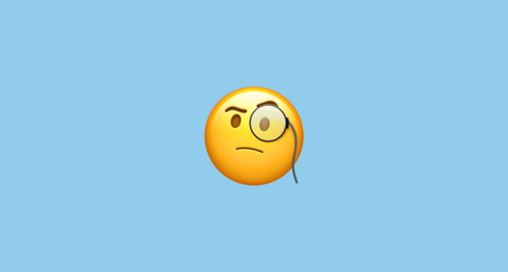 face with monocle emoji