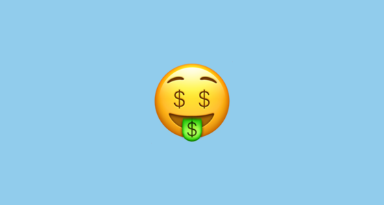 money mouth face emoji