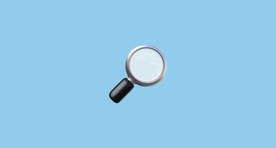 right pointing magnifying glass emoji