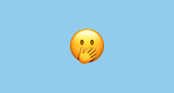 smiling face with smiling eyes and hand covering mouth emoji