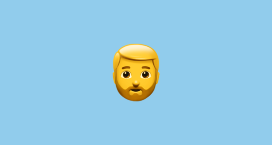 bearded person emoji