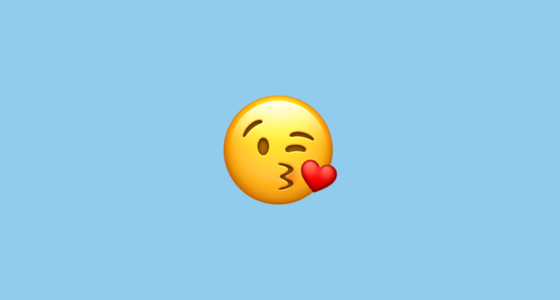 What does the kissing emoji really mean