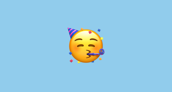 Partying Face Emoji On Apple IOS 121