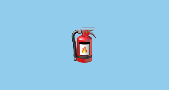 fire extinguisher emoji
