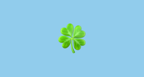 Four Leaf Clover Emoji