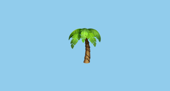 palm tree emoji