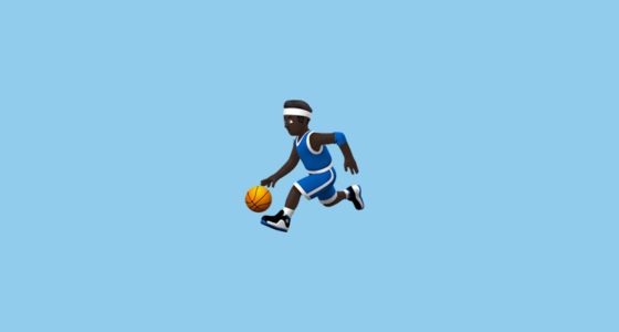 Person With Ball With Black Skin Tone Emoji