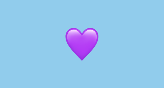 Purple Emoji Heart Magdalene Project Org