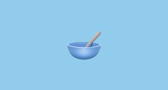 🥣 Bowl With Spoon Emoji