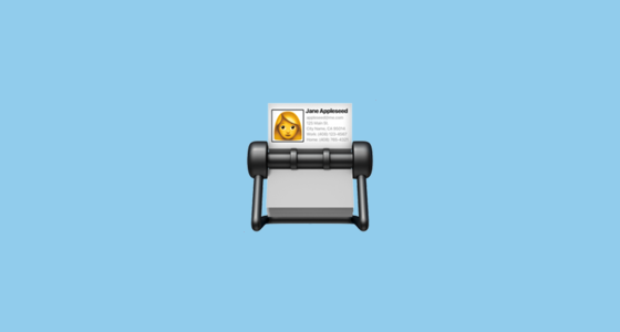 📇 Card Index Emoji