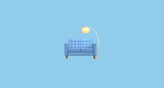 🛋️ Couch and Lamp Emoji
