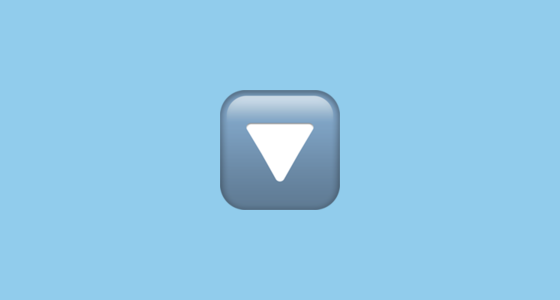 🔽 Down-Pointing Small Red Triangle Emoji