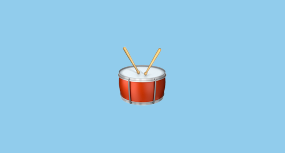 🥁 Drum With Drumsticks Emoji