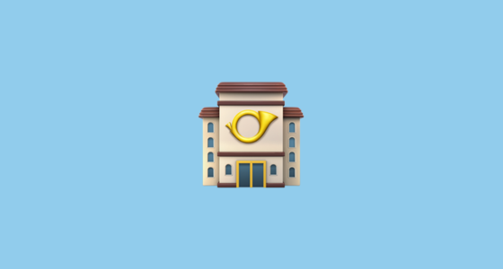 🏤 European Post Office Emoji