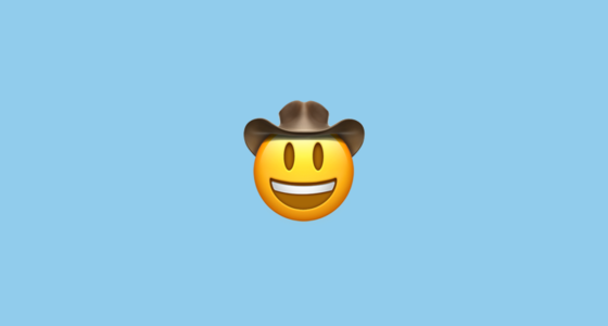 🤠 Face With Cowboy Hat Emoji