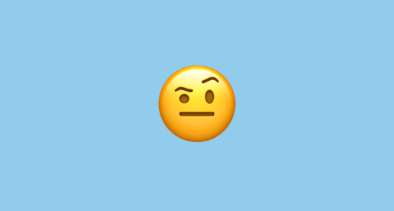 Face With One Eyebrow Raised Emoji