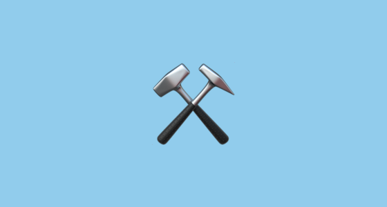 ⚒️ Hammer and Pick Emoji