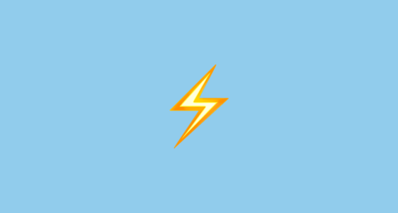 ⚡ High Voltage Sign Emoji
