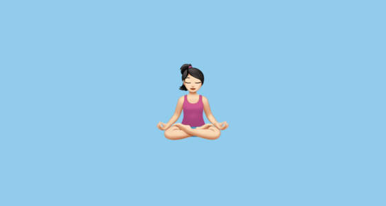 🧘🏻 Person in Lotus Position: Light Skin Tone Emoji