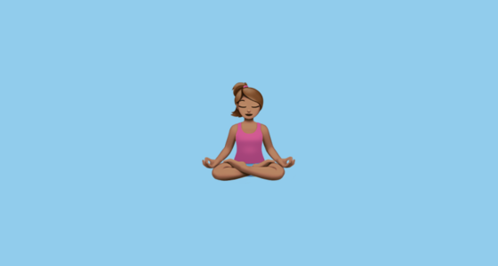 🧘🏽 Person in Lotus Position: Medium Skin Tone Emoji