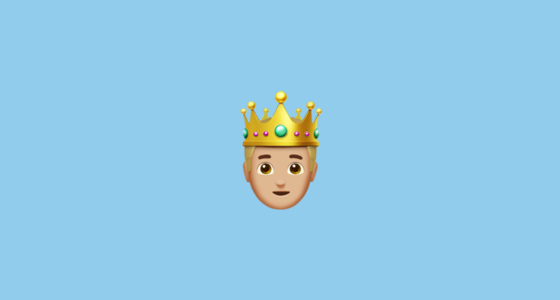 🤴🏼 Prince With Cream White Skin Tone Emoji
