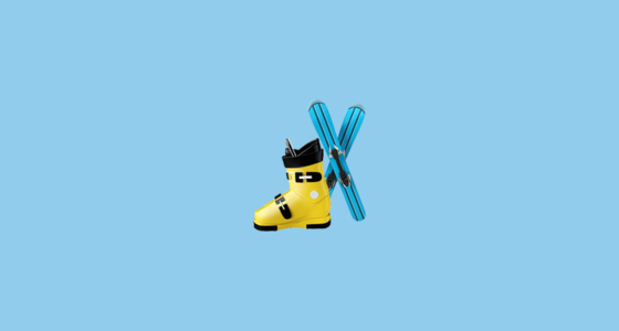 🎿 Ski and Ski Boot Emoji