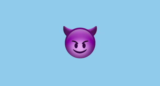 😈 Smiling Face With Horns Emoji