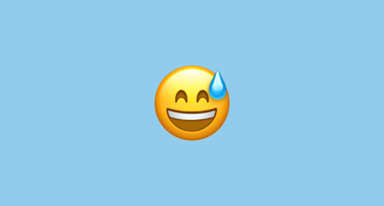 Smiling Face With Open Mouth And Cold Sweat Emoji