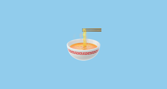 🍜 Steaming Bowl Emoji