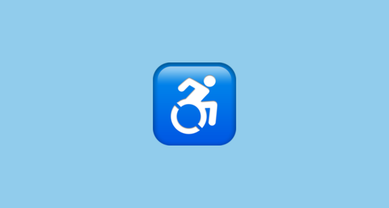 ♿ Wheelchair Symbol Emoji