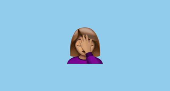 Woman Facepalming With Moderate Brown Skin Tone Emoji