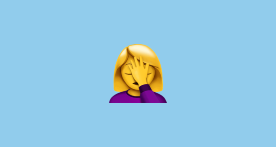 🤦 ♀️ Woman Facepalming Emoji