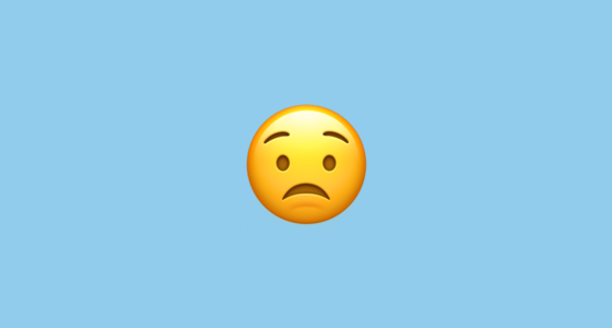 😟 Worried Face Emoji