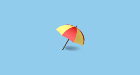 ⛱️ Umbrella On Ground Emoji