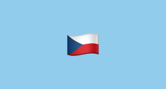 Flag For Czechia Czech Republic Emoji