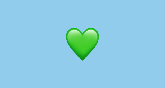 ???? Green Heart Emoji on Apple iOS 13.3