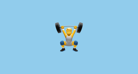 🏋️ Weight Lifter Emoji