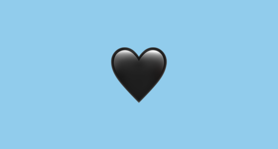 ???? Black Heart Emoji