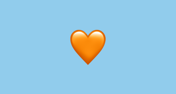 ???? Orange Heart Emoji