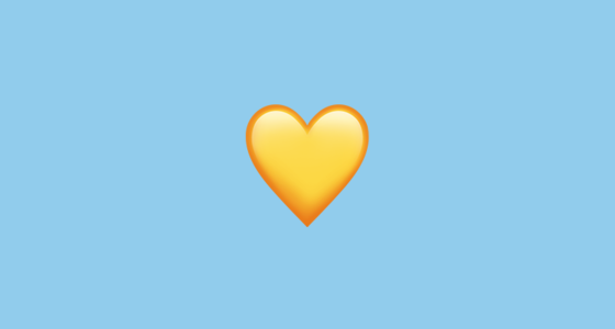 ???? Yellow Heart Emoji