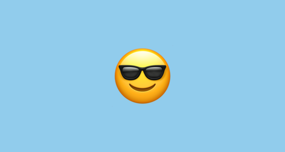 😎 Smiling Face with Sunglasses Emoji