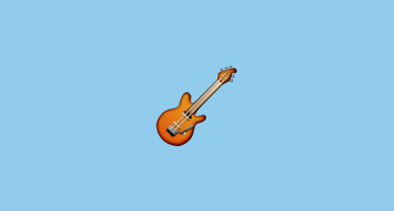 Guitar Emoji On Apple IOS 9.1