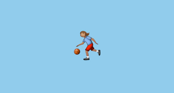 Person Bouncing Ball Medium Skin Tone Emoji On Apple Ios 9 1