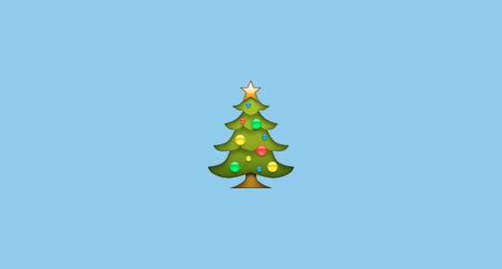 christmas tree emoji on apple ios 100