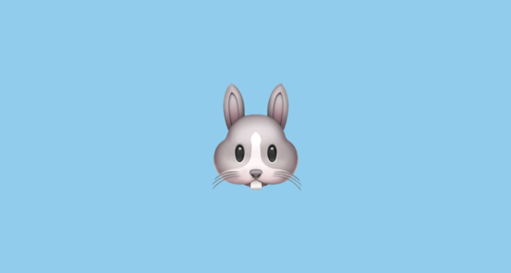 Rabbit Face Emoji On Apple Ios 10 3