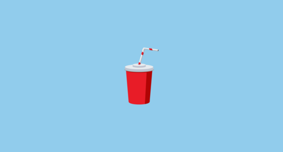 Cup With Straw Emoji On Joypixels 31